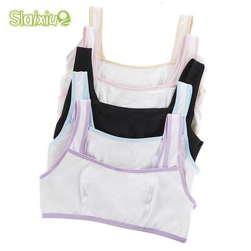 Solid Color Girls Underwear For Sport Wireless Small Training Puberty Bras Cotton Baby Girls Bra For Kids Undergarment Clothes