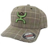 HOOey Cap Eldorado Green Hands Up FlexFit Cowboy Cap