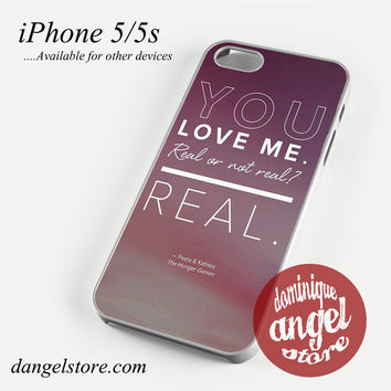 The Hunger Game Katniss & Petaa Quotes Phone case for iPhone 4/4s/5/5c/5s/6/6 plus