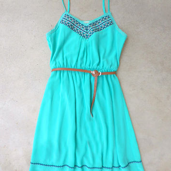 Field of Teal Dress