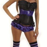 5 PC Sexy  Purple Witch Costume