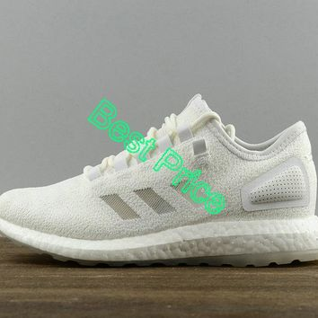 2018 Real Sneakerboy x Wish x Adidas Pure Boost Cwhite Cwhite Cwhite Mens Running Sneakers S80981 Authentic shoe