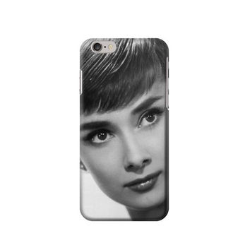 P2738 Audrey Hepburn Short Hair Phone Case For IPHONE 6S