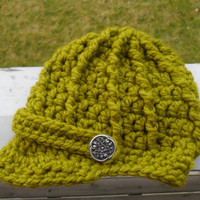 Baby Newsboy Hat  Lemongrass  Made to Order by SoLaynaInspirations