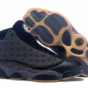 Air Jordan 13 Retro QUAI 54 Black Men Basketball Shoes Size US 8-13