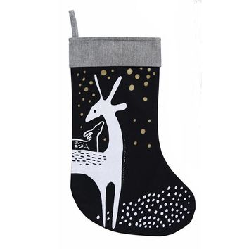 Wee Gallery Christmas Deer Stocking