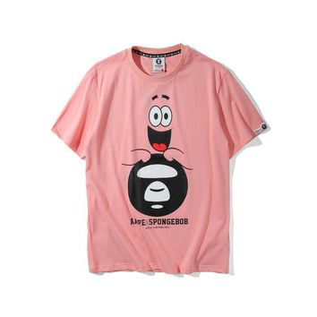 spbest AAPE by A Bathing Ape x SpongeBob Patrick Star Ape T-Shirt