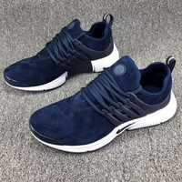NIKE AIR PRESTO Men Fashion Running Sport Casual Shoes Sneakers Navy blue G-CSXY