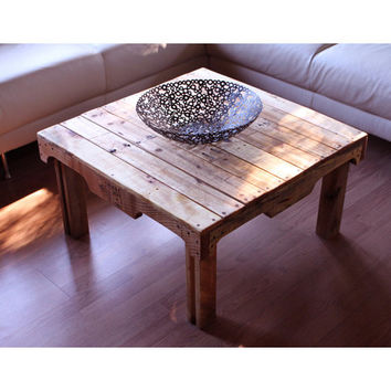 The Tina. Custom (made to order) Coffee Table of reclaimed wood.
