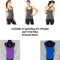 NEW Alo yoga bra top intersect bamboo tank in purple or blue S M workout $55.00