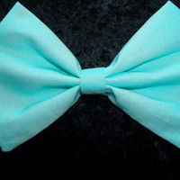 Hair Bow Barrette Seafoam Aqua Light blue princess Ariel by MM4CC