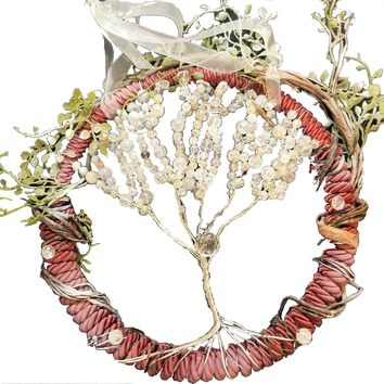 Icy Winter Tree of Life Wreath
