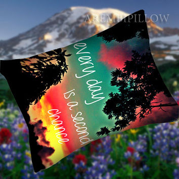 Every day is a second chance - Pillow Case,Retro Pillow,Throw Pillow,Sova Pillow,Pillow Cover.The Best Pillow.