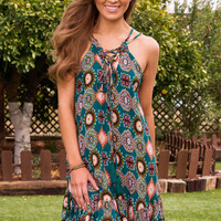 Edna Lace Up Dress