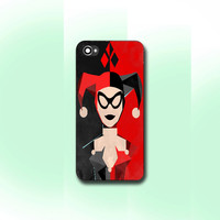 geometric harley quinn , iPhone 4/4S case, iPhone 5/5s/5c case, Samsung S3/S4 Case, Photo print hard Plastic
