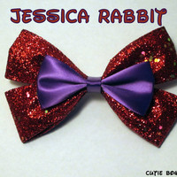 Jessica Rabbit Hair Bow Who Framed Roger Rabbit by bulldogsenior08
