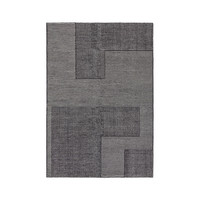 Tom Dixon Stripe Rectangular Wool Rug - Black and