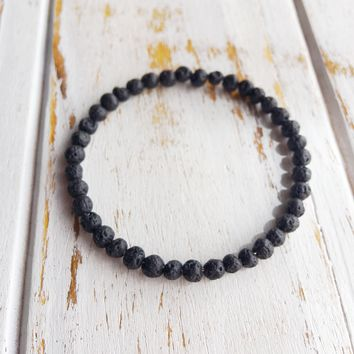 6mm Lava Beads Bracelet ~ Connection to Mother Earth