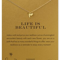 """Dogeared Life is Beautiful Necklace, 18"""""""