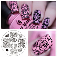 BORN PRETTY BP73 Rose Flower Nail Art Stamp Template Image Plate BP Nail Stamping Plate 1 Pc