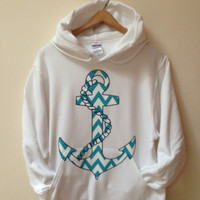 Hooded Pullover Anchor Sweater