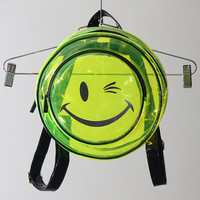 Clear Neon PVC Smiley Face Backpack