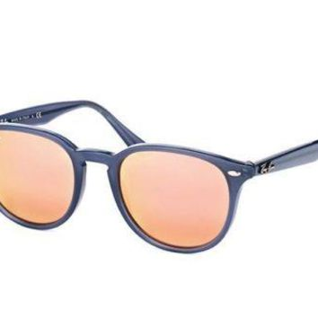Authentic Ray Ban Sunglasses RB4259 6232/1T Blue Frames Rose Gold Lens 51MM
