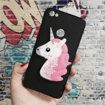 Unicorn Glitter Liquid Case for Xiaomi Redmi Note 5A / 5A Pro /5A Prime Cover Dynamic Cute Cartoon OWL Dreamcatcher Soft TPU