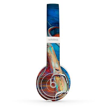 The Colorful Pastel Docked Boats Skin Set for the Beats by Dre Solo 2 Wireless Headphones