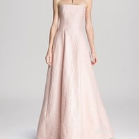 HALSTON HERITAGE Gown - Strapless Jacquard