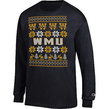 Western Michigan University Ugly Sweater Long Sleeve T-Shirt | Western Michigan University