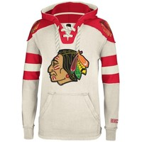 Chicago Blackhawks Reebok Pullover Hoodie – Cream