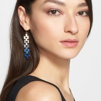 Women's St. John Collection Degrade Baguette Crystal Earrings