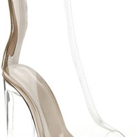 Clear for Take Off Peep Toe Bootie