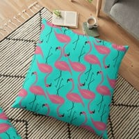 'Bright flamingo' Floor Pillow by cocodes