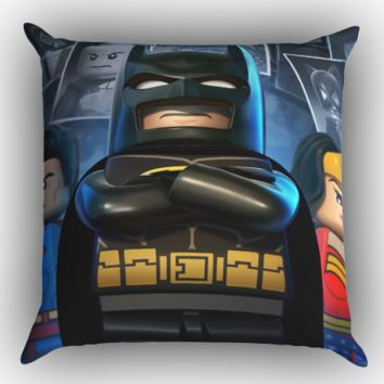 lego marvel super heroes batman Y1231 Zippered Pillows  Covers 16x16, 18x18, 20x20 Inches