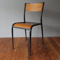 Vintage 1960s Mullca model 511 French school chair