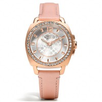 Coach :: Mini Boyfriend Breast Cancer Awareness Small Strap Watch