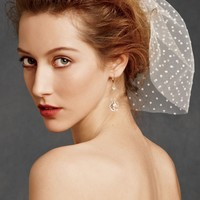 Dotted Voile Veil in the SHOP Hair Adornments at BHLDN