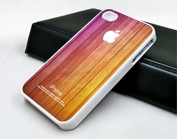 iphone 4 case iphone 4s case iphone 4 cover  purple and brown colors wood texture unique Iphone case