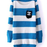 Blue stripes lovely pocket sweater from Fashion Accessories Store