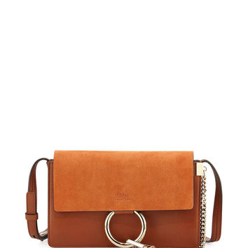 Faye Small Suede Shoulder Bag, Brown - Chloe