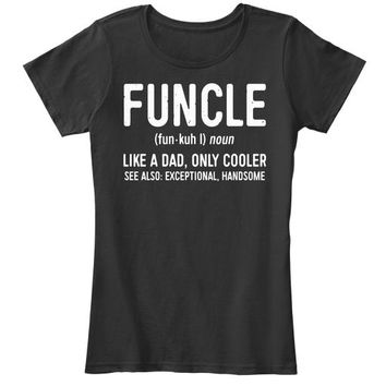 Mens Funcle Definition T Shirt Like A Dad