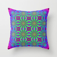 Psychedelic Throw Pillow by 2sweet4words