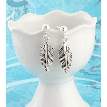 Small and Simple Feather Earrings