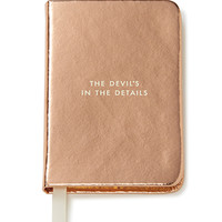 kate spade new york take note mini notebook rose gold