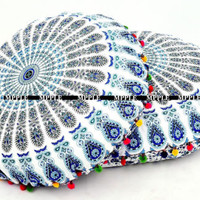 "Indian Handmade Home Decorators Mandala Floor Pillows 32"" Pillow Cushion Cover"