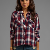 Rails Kendra Button Down in Maroon Check from REVOLVEclothing.com