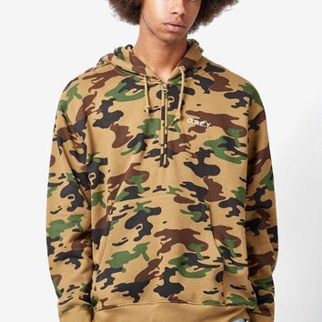 DCCKYB5 OBEY Ennet Camouflage Anorak Half Zip Hoodie