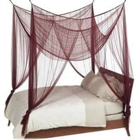 Nicamaka Casablanca 4-Point Bed Canopy - Scarlet
